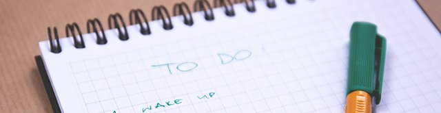 Writing a to-do list